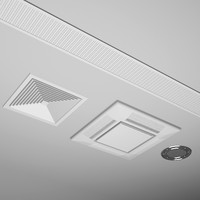 3d model of ceiling vents