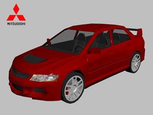 mitsubishi lancer evolution 9 3d model