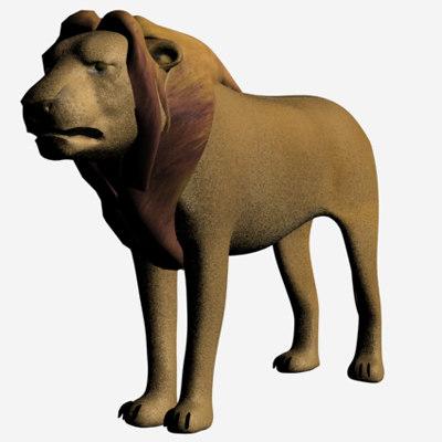 3ds max lion