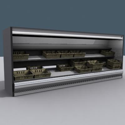 3d 3ds supermarket display shelf market