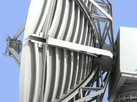 3dsmax satellite station