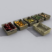 fruit veg crates 3d max