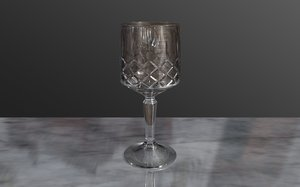 crystal glass 3d model