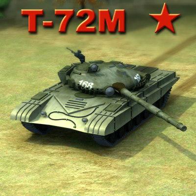 3d max t-72m battle tank