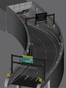 3d on-ramp big dig model