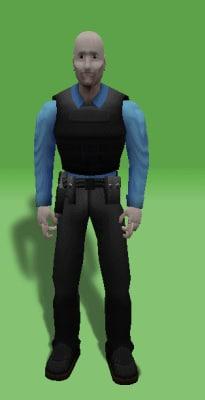free 3ds model police officer