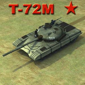 3d t-72m battle tank