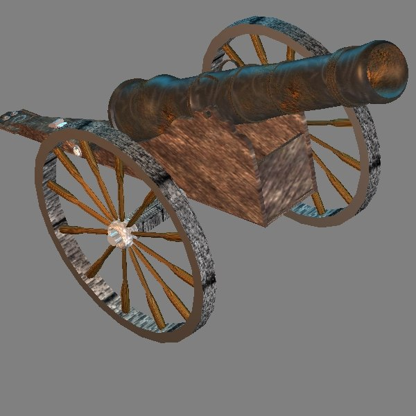 medieval cannon 3d 3ds