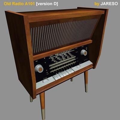 3d antique radio old a101d