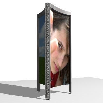 outdoor billboard advertising 3d model