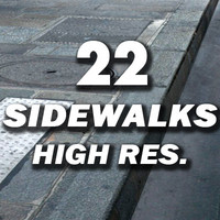 22 Sidewalks Textures collection ---------- High Resolution