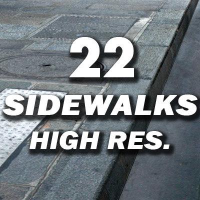 22 sidewalks resolution 3d model