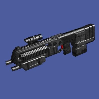 3ds max combat rifle