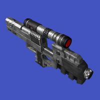 3d model magnum pistol