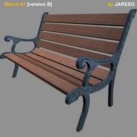 3d model bench bench01b