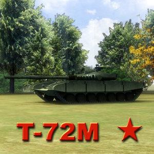 t-72m battle tank 3d obj