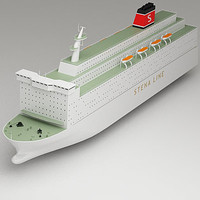 3d model passenger car ferry