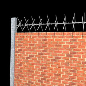 security fence barb wall 3ds
