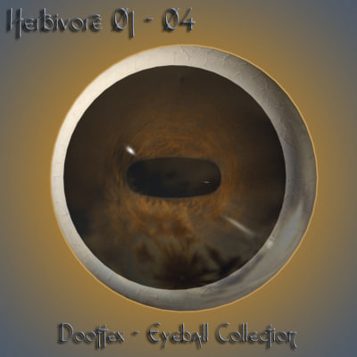 3d model herbivore eye pupil