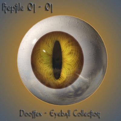 reptile eye 3d model