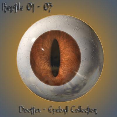 3d max reptile eye