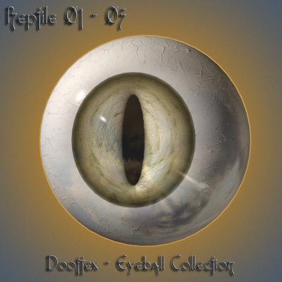 3d model reptile eye