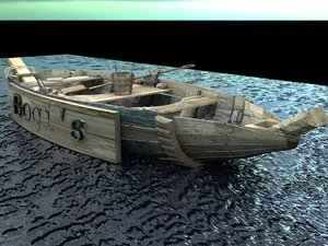 3d model boat water