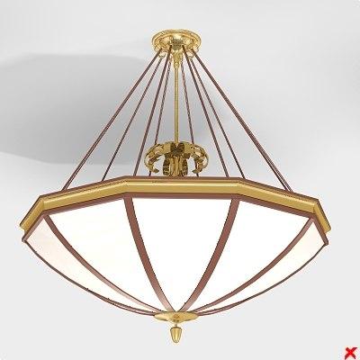 chandelier light lamp 3d model