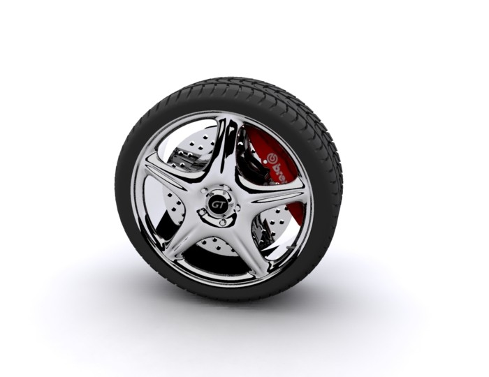 maya chrome rim tires wheel