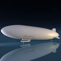 zeppelin blimp 3d model
