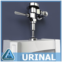 urinal 3d max
