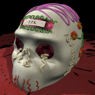 3d model of calaverita candy