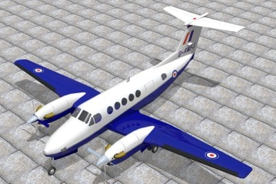 3d raytheon king air model