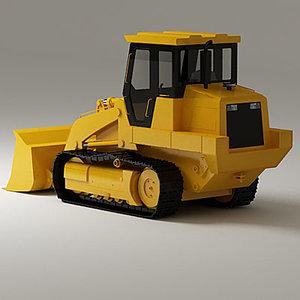 3d loader track model