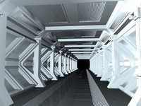 3d science fiction corridor model