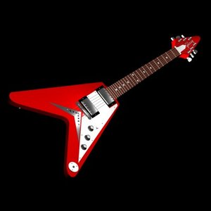 3ds max gibson flying v guitar