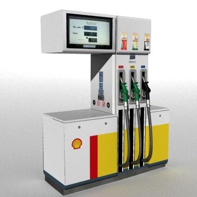 3d petrol pump