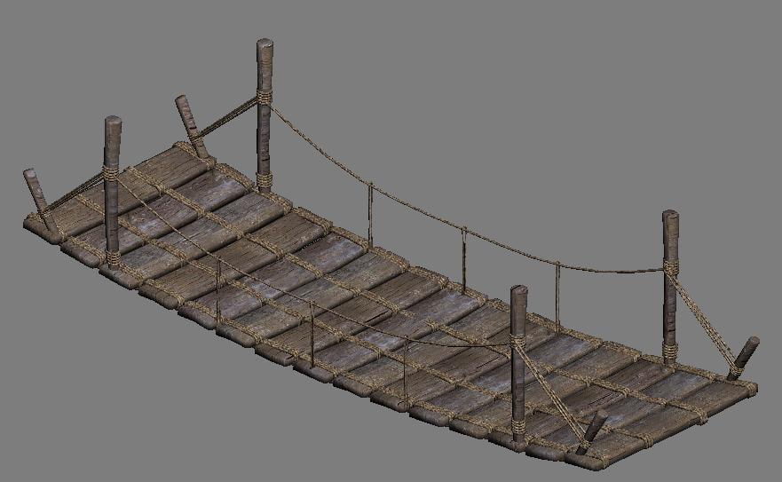 3d bridge rope