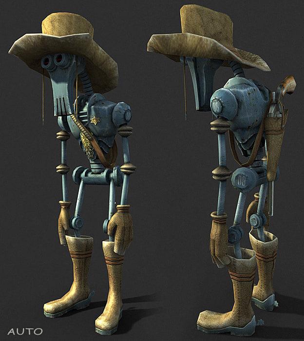 maya robot cowboy