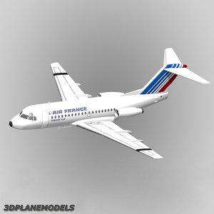 3ds fokker f28-1000 air france