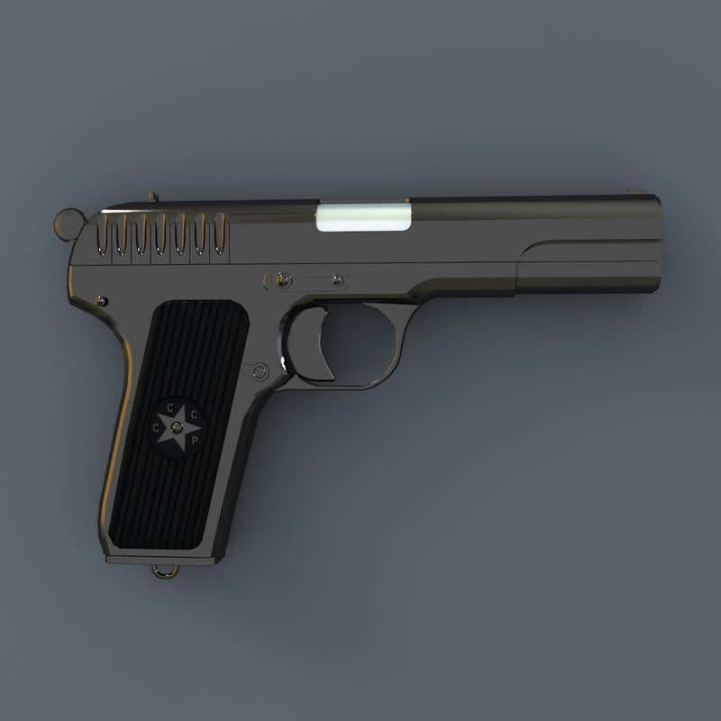 3d model of soviet gun tokarev tt