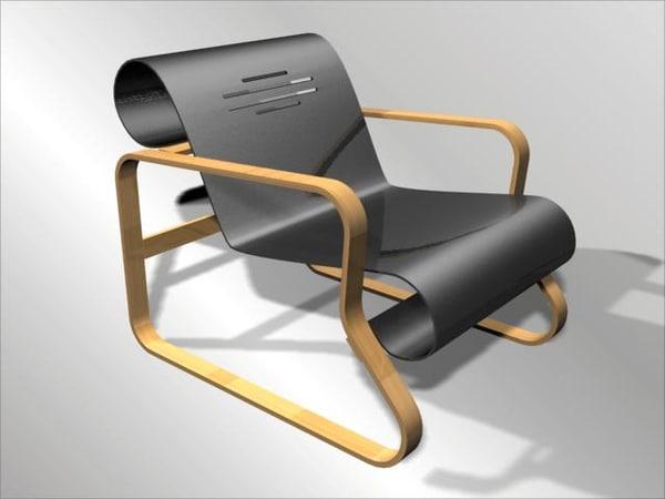 3d max paimio chair