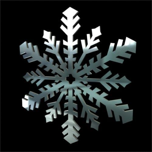 3d snowflake winter model