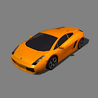 lamborghini gallardo car 3d model