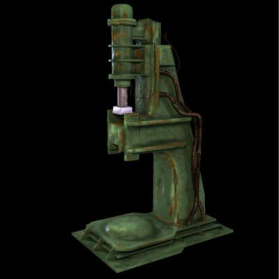 pneumatic hammer 3d model