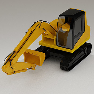3d model of small digger