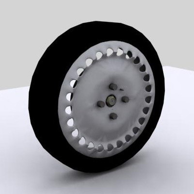 wheel disc brake 3d max