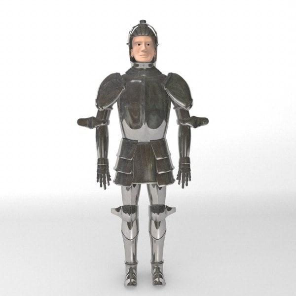3d knight helmet model