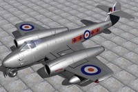 3ds max gloster meteor fighters jet f4