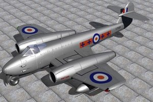 gloster meteor fighters jet f4 3d model